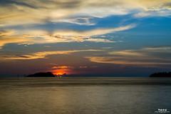 Kota Kinabalu Sunset ii (Pakcik G) Tags: pakcikg blogsempoi kotakinabalu kk malaysia sabah sunset water orange clouds cloudy blue windy perfect new outdoor dusk serene seaside sky shore