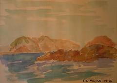 MENORCA. BINIMEL-LA.09-16.Sin rotring (joseluisgildela) Tags: menorca samesquida playas islasbaleares carnetsdeviaje acuarelas sketch