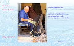 Le vieil homme et la mer   1 (philippedaniele) Tags: vividstriking pcheur centenaire ravaudage filetdepche croatie dalmatie hvar starigrad retraite travail longvit utilit occupation