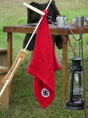 100% Cotton (stevenbrandist) Tags: germany nazi history ww2 red swastika victoryshow reenactment