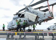 161010-N-RL456-014 (3rdID8487) Tags: jtfmatthew hsm72 helicopter seahawk mh60 squadron aid amphib amphibious iwojima lhd7 ship haiti hurricane matthew marines navy sailors ussiwojimalhd7 nmcs dvidsbulkimport atlanticocean