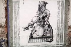 Malaga Street Art (Genghis Charm) Tags: art drawing street pen ink sureal malaga strange