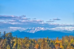 The Golden Ears (robinlamb1) Tags: landscape mountains nature goldenearsmountains clouds darkclouds trees fallcolour bluesky outdoor