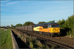 Morning Path Steel (Resilient741 Photography) Tags: class 56 colas railfreight grid 56113 6e07 washwood heath boston docks freight train trains loco locomotive diesel track mml midland main line atenborough barton lane level crossing dbs dbc db schenker