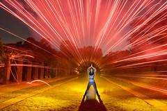 phoLAC2016: Kim (palateth) Tags: lightpainting lightart night longexposure pholac pholac2016 photokina glpu afterpholacfun fireworks smoke red