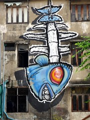 Bangkok graffiti - blue fish (ashabot) Tags: bangkok thailand graffiti streetscenes streetart seasia street
