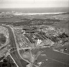 Australian Iron & Steel, Port Kembla - 26 Nov 1937 (Royal Australian Historical Society) Tags: rahs royalaustralianhistoricalsociety aerialphotography adastra adastraaerialsurveycollection australianironsteel portkembla 1937