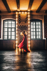 Beautiful Tati in Golden Hall at Pastila Studio (LikClick Photography) Tags: beauty dark interior