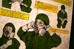 GAS GAS GAS! (Michael's pics... (The Amateur Wanderer)) Tags: british army gas mask s10 intructions nbc nuclear biological chemical warfare r3 rotor bunker holmpton radar qra quick response