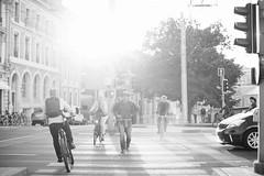 Geneva (philipjohnson) Tags: nikon d700 nikkor 50mm f12 ais nikkor50mmf12ais geneva genf geneve genve switzerland suisse schweiz svizzera swiss street black white monochrome crossing flare sun
