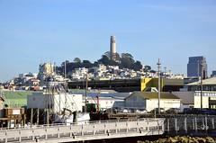California, San Francisco, Lillian Coit Memorial Tower (EC Leatherberry) Tags: artdecostyle coittower telegraphhill lilliehitchcockcoit arthurbrownjr henryhoward nationalregisterofhistoricplaces california sanfranciscocalifornia lilliancoitmemorialtower