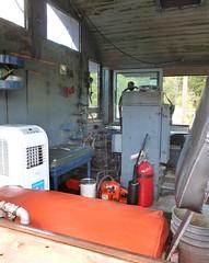 Driver's seat (Jer*ry) Tags: train railroad excursion ride northalabamarailroadmuseum vintage antique preservation locomotive controls switchengine alcos2