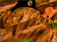 *October... (MONKEY50) Tags: art pentaxart digital leaf golden fullmoon psp autumn leaves musictomyeyes flickraward artdigital netartii exoticimage awardtree hypothetical shockofthenew contactgroups autofocus soe pentaxflickraward beautifulphoto