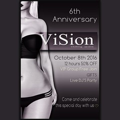 {ViSion} -S&F *6th Anniversary [October 8th 2016] (pjey Pearl - {ViSion} -S&.F) Tags: anniversary {vision}sf pjeypearl gifts promotion sl birthday