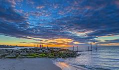 Breaking Clouds (nicklucas2) Tags: bournemouth seascape beach groyne isleofwight sea sand solent sun sunrise cloud