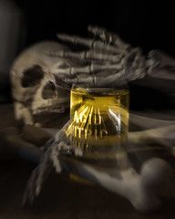 Spooky Zoom (lclower19) Tags: zoom skeleton acid spooky creepy halloween bones bottle 4252 522016