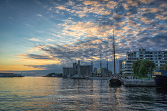 Queens Quay (Yewbert The Omnipotent) Tags: toronto canada lightroom city urban downtown clouds landscape nikon tamron 35mm water light
