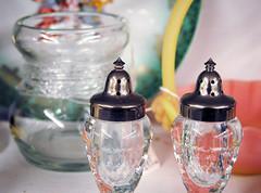 Antique Salt & Pepper Shakers (minkstudios) Tags: antique houseware salt pepper stilllife glassware