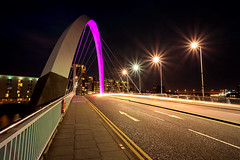 4-star (D Cation) Tags: scotland glasgow squintybridge finnieston pacificquay night light starbursts traffictrails