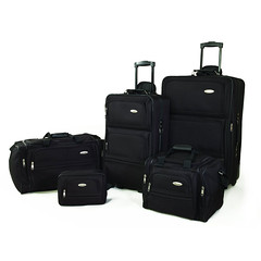 "Samsonite 5 Piece Nested Luggage Suitcase Set, 25"" 20"" & More (Black, Navy, Red) (wupplestravel) Tags: black luggage more navy nested piece samsonite suitcase"