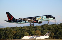 Brussels Airlines (Tintin comics Livery). OO-SNB. Airbus A320-214. (Themarcogoon49) Tags: airbus a320 tintin aircraft gva airport cointrin lsgg landing avgeek planespotting switzerland