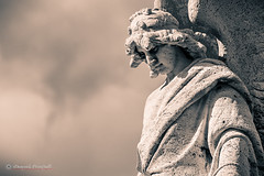 Please watch down on me (Mire74) Tags: sicilia catania statua lightroomcc sicily statue splittone 2016 teatromassimobellini photoshopcc project522016