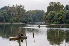 Fishing (A. Tadic) Tags: fisherman fishing water danube novisad boat trees calm fall autumn dunav serbia srbija fish vojvodina photo peace reflection nature