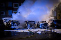 Vandalism on my parking lot (Per Spektiv) Tags: blackeberg drama hem stockholm street sweden