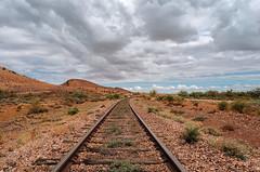 Closed Rail. (Ian M's) Tags: rail south australia vsco outback puttapa