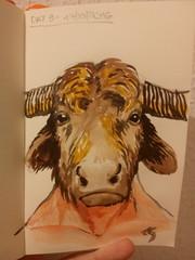Day 9 of my sketch streak (# annola) Tags: disegno dessin sketch zeichnen malen acquarello aquarelle minotauro minotaur