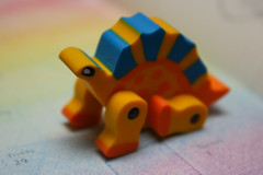 Little Dinosaur ~ 120/365 (Hamsteh) Tags: rainbow dino dinosaur eraser rubber novelty stationary hawkinsbazaar puzzleeraser