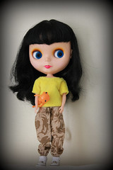 A is for Attitude! (*DollyLove*) Tags: rebel doll attitude blythe goldie allgoldinone wonderfrog