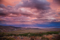 Sunset Rain Clouds Over Mono Lake (Jeffrey Sullivan) Tags: california sunset copyright usa lake nature rain weather canon landscape eos mono colorful conway nevada sierra september lee summit sullivan monolake eastern vining easternsierra 2011 monocounty jeffsullivan 5dmarkii