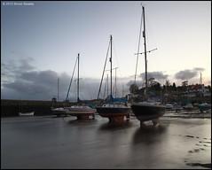 Blockade (SwaloPhoto) Tags: sunset zeiss coast scotland pier mud harbour fife dusk coastal northsea lowtide yachts masts ze firthofforth gloaming aberdour bythesea canoneos5dmkii distagont2821 distagon2128ze aberdourboatclub