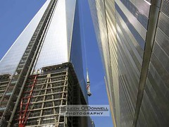 World Trade Center Spire - 08 (Eileen O'Donnell) Tags: nyc newyorkcity newyork manhattan worldtradecenter 911 wtc rebirth september11th reconstruction rebuilding raising freedomtower worldtradecenter1 canon7d copyrighteileenodonnellphotography