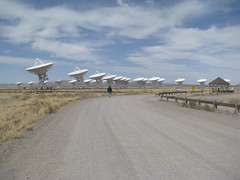 Chris walks out to the array (netmouse) Tags: vla radiotelescope verylargearray