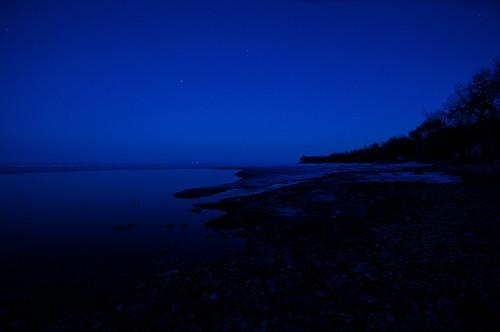 South - Late evening spring on Lake Winnipeg