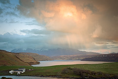 Gesto Farm & The Cullin Hills (Phil Hunter (VividVista)) Tags: light cloud scotland nikon mood isleofskye innerhebrides loch d800 lochharport cullinhills atmosphee vividvista gestofarm