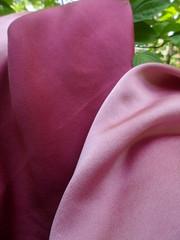 Lac Pinks on Silk (milkweed seed) Tags: pink silk lac naturaldye plantdyed plantdye