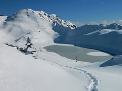 Prashar lake (Himachal Pradesh) (Sougata2013) Tags: winter snow cold trekking january himalaya mandi baggi prasharlake