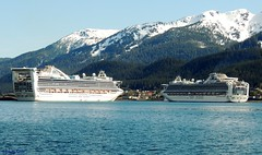 Golden Princess and Diamond Princess (B737Seattle) Tags: cruise water alaska golden boat nikon ship princess vessel diamond juneau ms coolpix luxury channel cruises liner gastineau p510