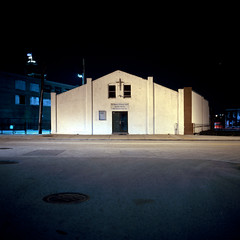 (patrickjoust) Tags: city urban usa color 120 6x6 tlr film church night analog america dark lens us reflex md focus long exposure fuji mechanical united side release tripod north patrick twin maryland slide cable baltimore east chrome american brewery after medium format states tungsten manual 55 expired joust e6 balanced estados reversal unidos mamiyac330s autaut fujichromet64 sekor55mmf45 patrickjoust