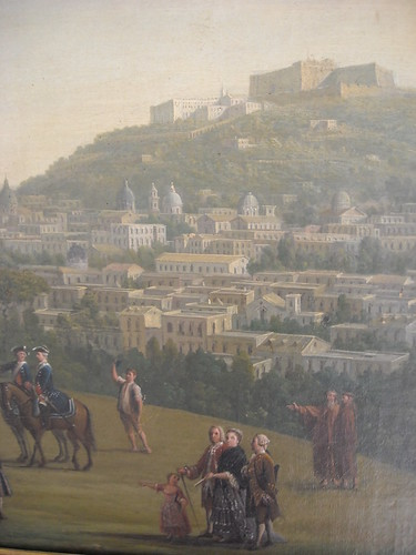 """Naples from Capodimonte"" (about 1762; Detail) by Antonio Joli (Modena about 1700-Naples 1777) - Naples, Capodimonte Museum"