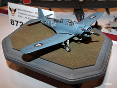 120810_225_IPMSusaSB2U (AgentADQ) Tags: world usa scale miniature model dive disney plastic international convention bomber walt society carrier 2012 vindicator modelers ipms vought sb2u vindicatorvought