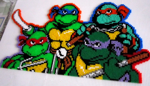 Ninja turtles hama bead - a photo on Flickriver