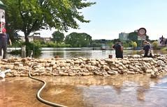 08.06.2013, gegen 14:30 Uhr Petriförder mit Blick auf den Werder. Magdeburg