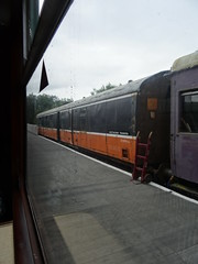 Inch Abbey, 10th of July 2016 (nathanlawrence785) Tags: county ireland abbey station train ir coach inch track gallery carriage cathedral diesel box stock railway down steam generator and brake coaching van ie northern railways plough craven boiler tarp ballast nir pw halt eireann cie mk1 728 downpatrick 10ton 3223 3189 iarnrod stabled downrail dcdr woodenbodied