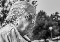 THE MATRIARCH-OLD INDIA (panache2620) Tags: bw woman old matriarch india senior female eos sl1 canon canonsl1 explorer age oldwoman