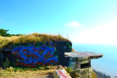tsc (DeproTSC) Tags: france depro tsc le havre sea lh plage view graffiti falaise blue spray travel colors wild water