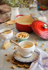 IMG_9953_exp-2 (Helena / Rico sin Azcar) Tags: sopa crema soup coliflor cauliflower vanilla vainilla nata cream
